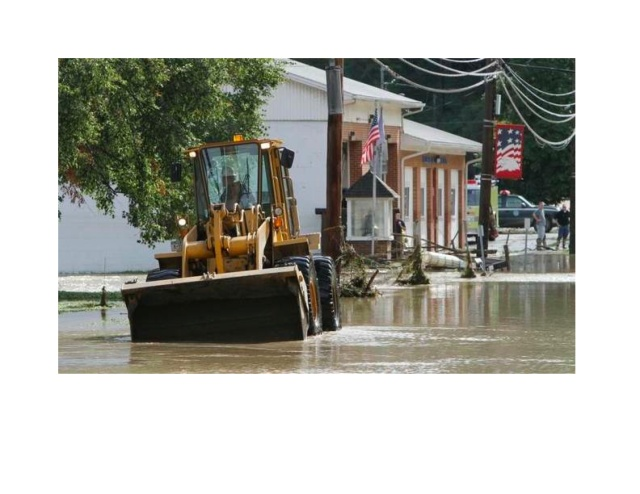 Flooding in Wellsburg, NY during Tropical Storm, September, 3011
